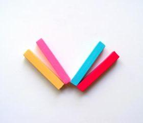 Hair Chalk - Spring Fling - 4 Pack Large Sticks - Crimson, Rose, Turquoise, and Ivory